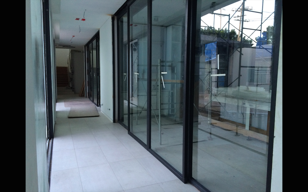 Steel Sliding Doors with Tempered Glass Installation