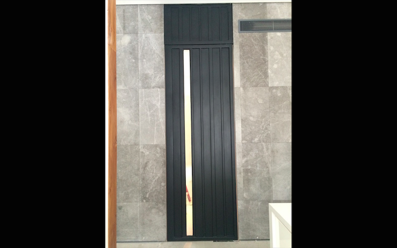Pivot Door & Fixed Overhead Panel with Tempered Glass